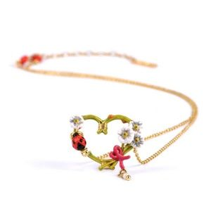 Les Nereides Dainty Gold Jewelry Heart Necklace